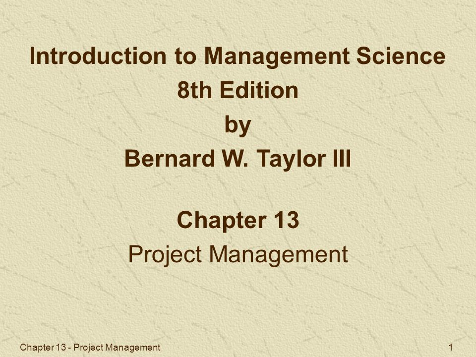 Chapter 13 - Project Management 12 ES is the earliest time an activity can start.