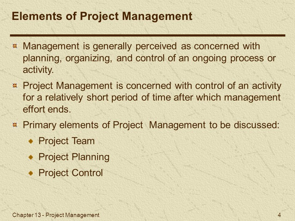 Chapter 13 - Project Management 45 Project Crashing and Time-Cost Trade-Off General Relationship of Time and Cost (1 of 2) Project crashing costs and indirect costs have an inverse relationship.