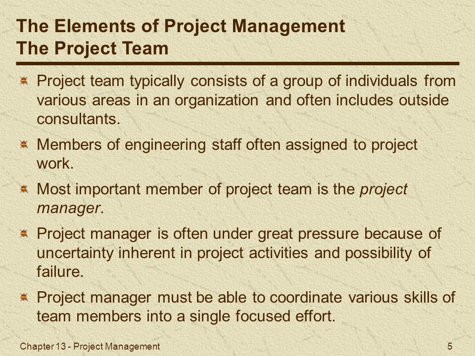 Chapter 13 - Project Management 26 Z value of 1.90 corresponds to probability of.4713 in Table A.1, Appendix A.