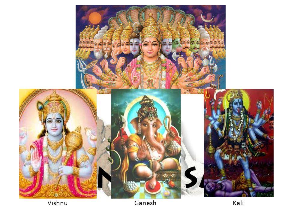 The most important religion of this area is Hinduism. Hindus worship many gods. VishnuGanesh Kali