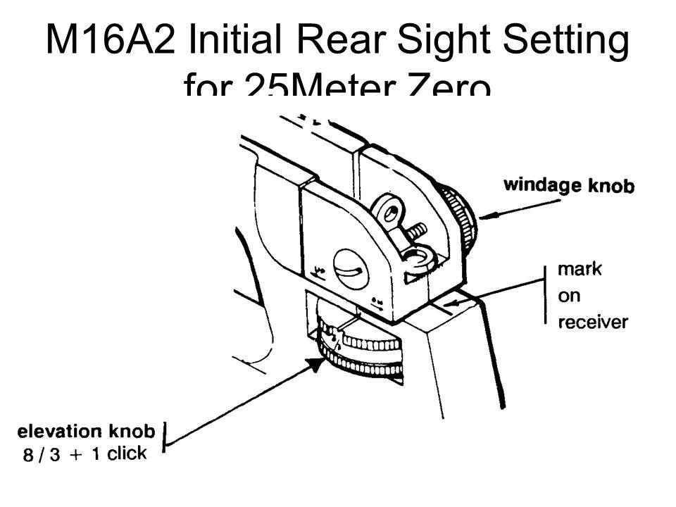 M16A2 Initial Sight Setting