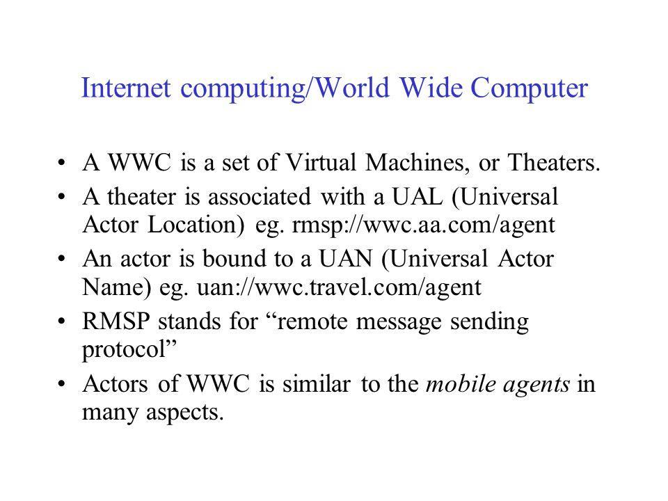 Internet computing/World Wide Computer