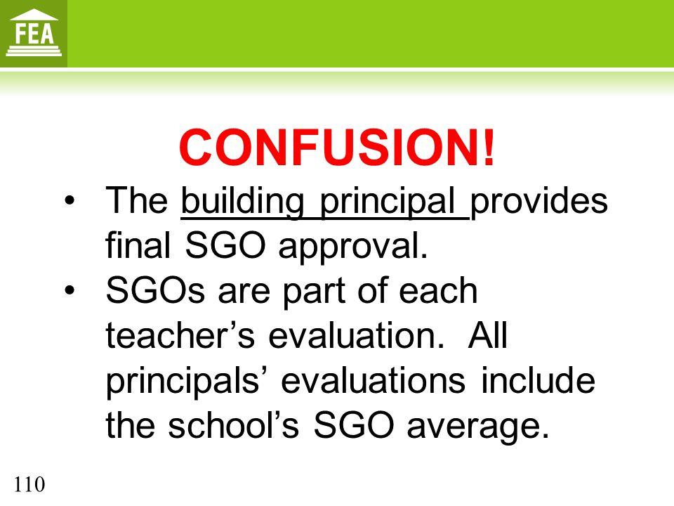 CONFUSION.The building principal provides final SGO approval.