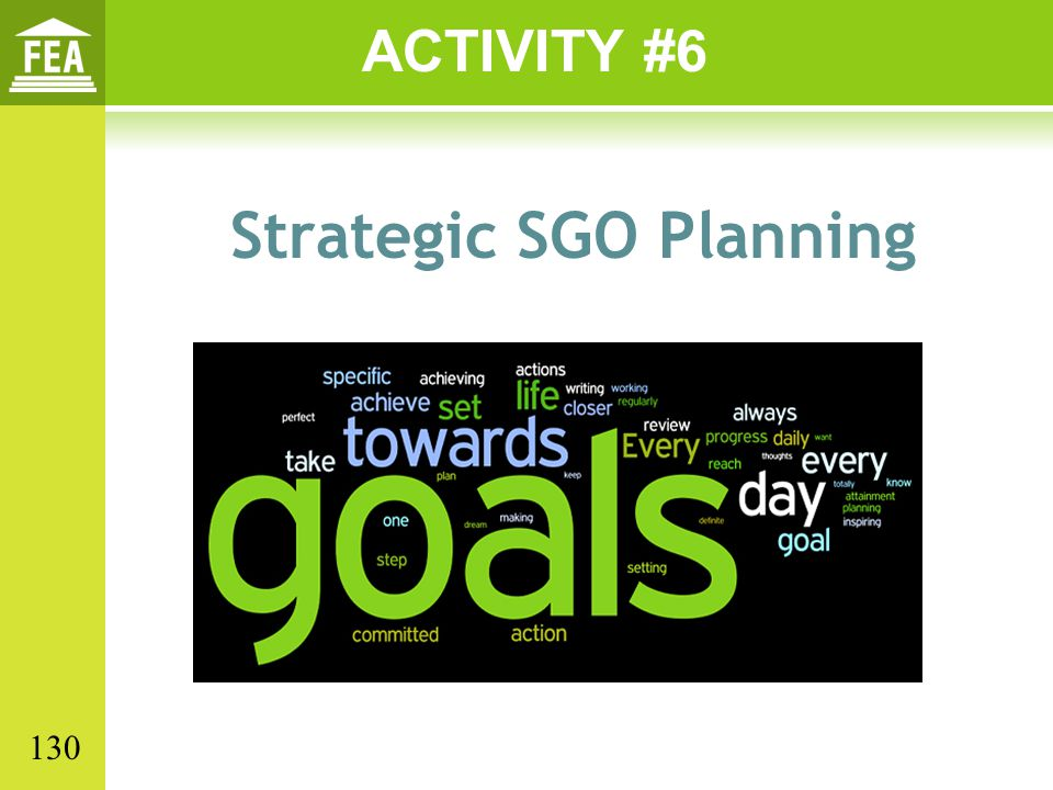 Strategic SGO Planning ACTIVITY #6 130