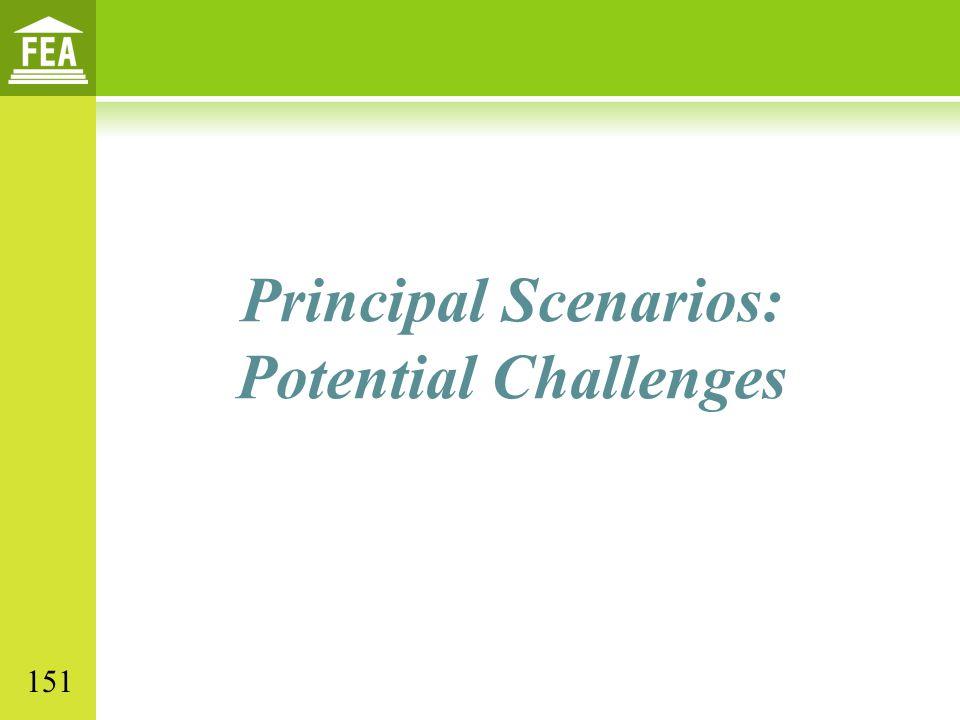 Principal Scenarios: Potential Challenges 151