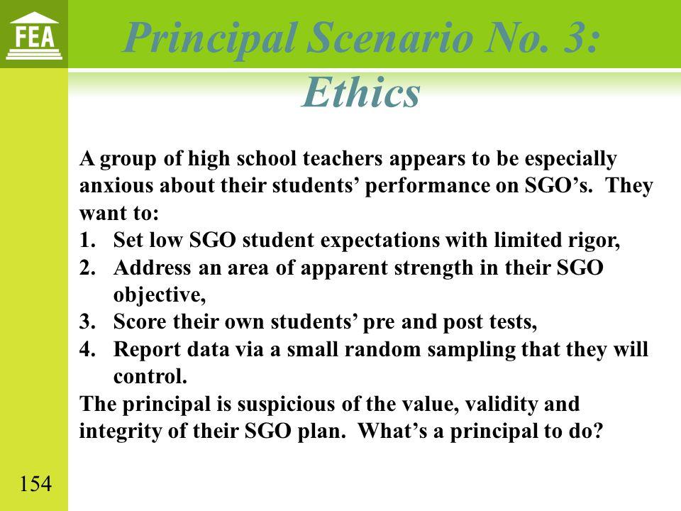Principal Scenario No.