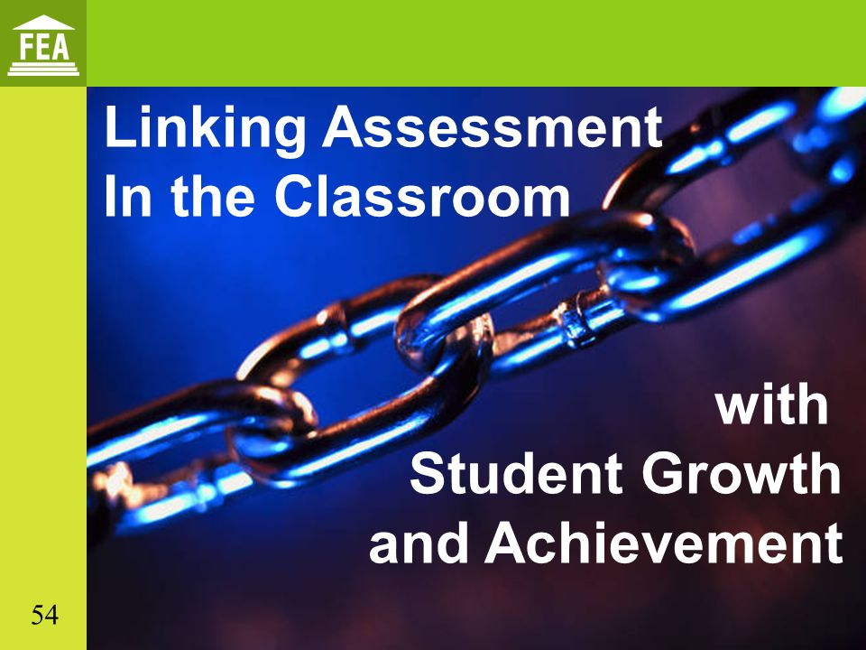 Linking Assessment In the Classroom with Student Growth and Achievement 54