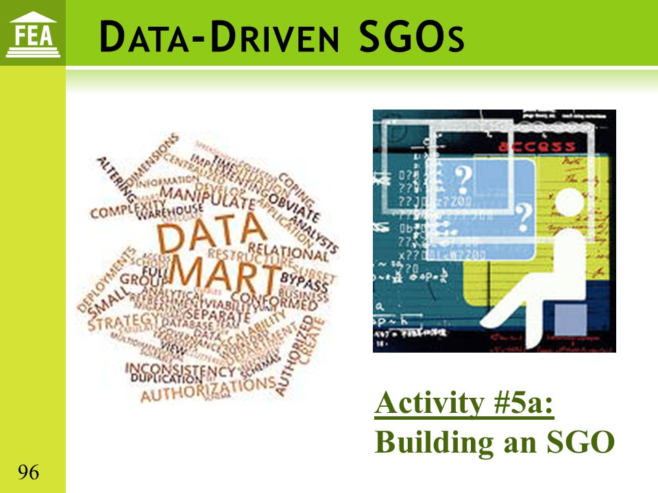 D ATA -D RIVEN SGO S Activity #5a: Building an SGO 96