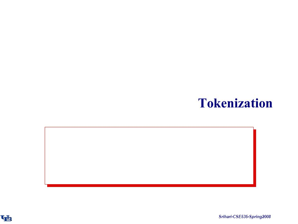 Srihari-CSE535-Spring2008 Tokenization
