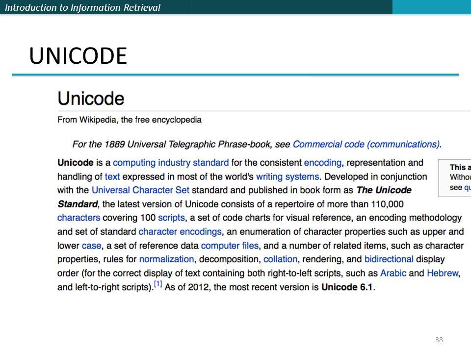 Introduction to Information Retrieval UNICODE 38