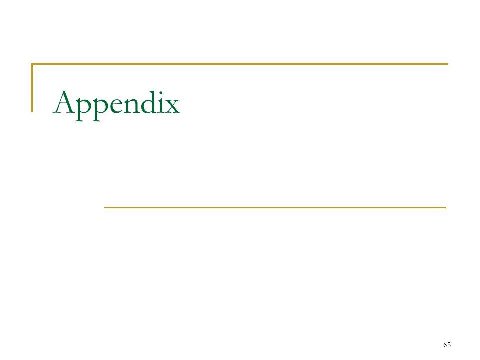 65 Appendix