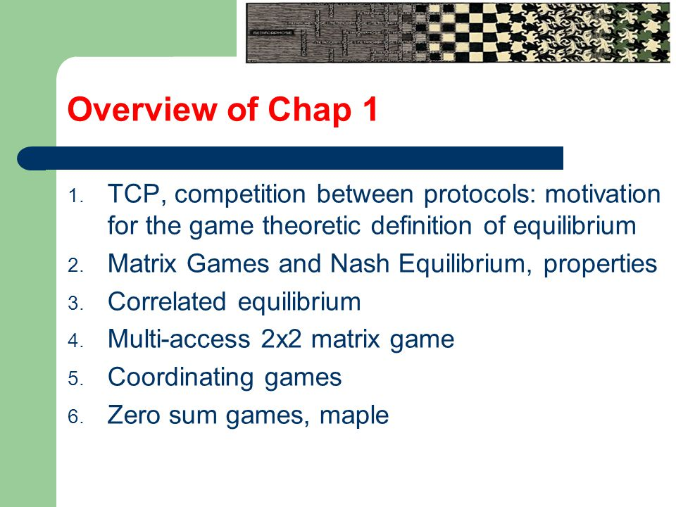Overview of Chap 1 1.