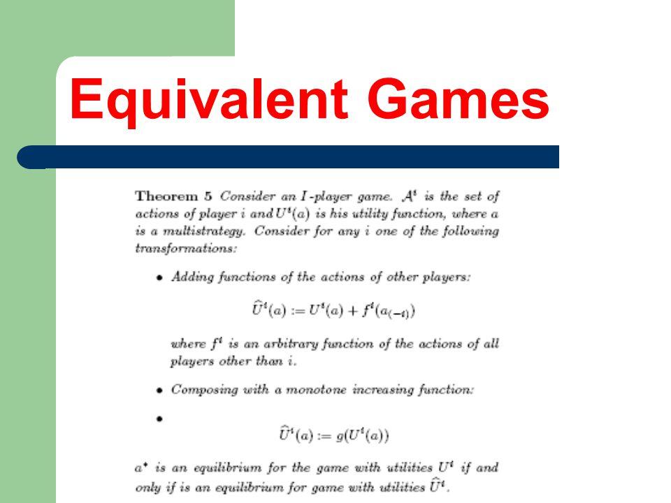 Equivalent Games