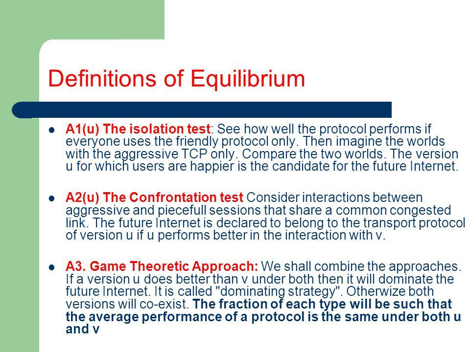 Equilibrium in Mixed strategies
