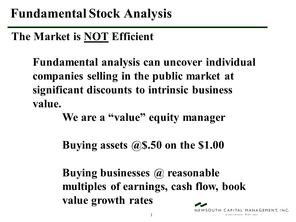 2 EFFICIENT MARKET THEORY