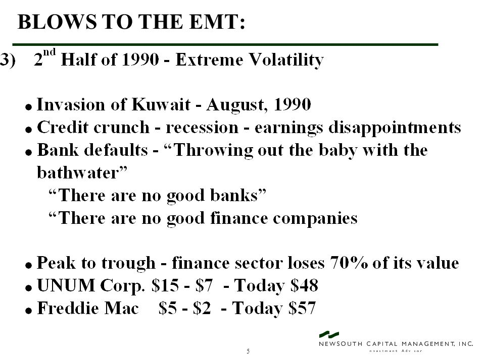 46 VALUE INVESTING - AN EXAMPLE OF WHAT CAN GO WRONG! LIZ CLAIBORNE - A $31 Stock (February, 1992)