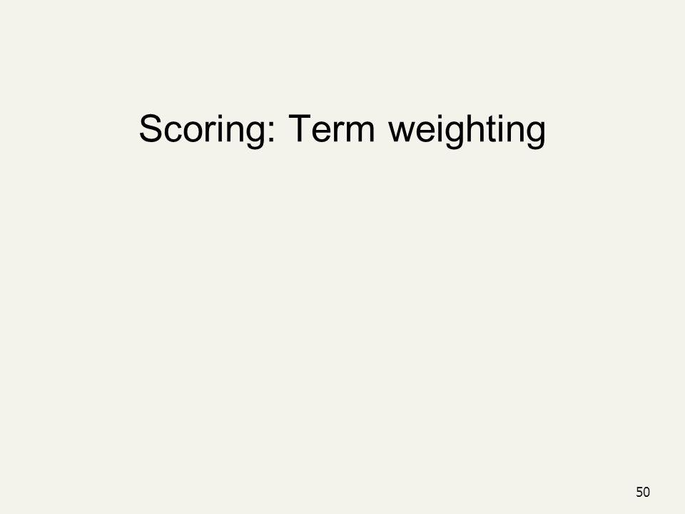 50 Scoring: Term weighting