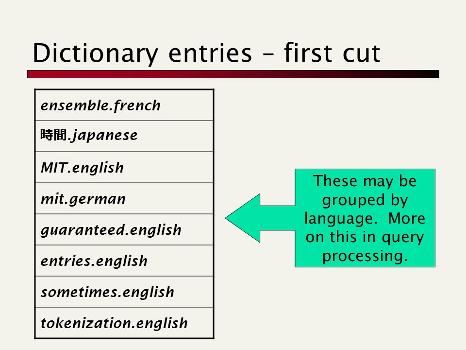 Dictionary entries – first cut ensemble.french 時間.