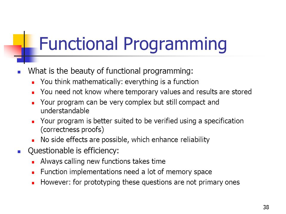 39 Insertion: Recursive Functions Recursion is a fundamental way of problem solving in computer science In fact, not only Lisp but almost all programming languages (including Pascal, C, Fortran 90) support recursion Recursion is eminently useful, because it simplifies problem solving tremendously Recursion is a property of an algorithm, thus, we can treat it without referring to a special programming language, or say you can write recursive algorithms using Pseudo-Code, if we extend it by function definitions Recursion is often used in real life: Reading a book may be defined as reading the first page followed by reading the rest of the book (the rest of … = a shorter step!) Climbing a ladder can be defined as climbing the first rung followed by climbing the rest of the ladder (a shorter step!) Driving an amount of miles can be defined as driving one mile and then driving the rest of the distance (a shorter distance!)