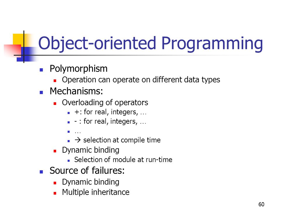 61 Parallel Programming Parallel programming aims at reducing computation time Like OOP parallel programming (PP) does not aim at hiding step-by-step instruction processing Rather, the Von-Neumann type style is changed in another way: Computations are allowed to execute in parallel Classes based on the architecture (see also Chapter 5): SIMD  Vector computers MIMD  Parallel computers (e.g.