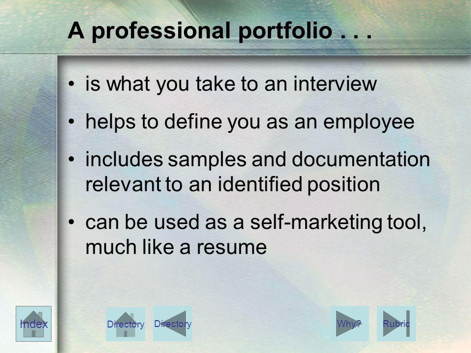 A professional portfolio...