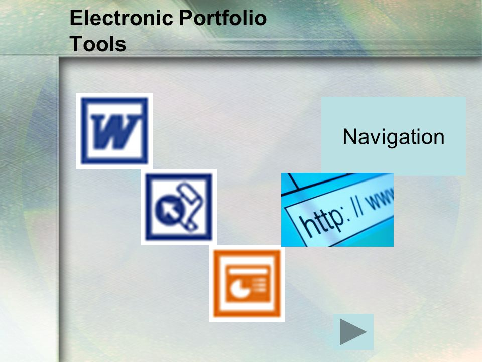 Electronic Portfolio Tools Navigation