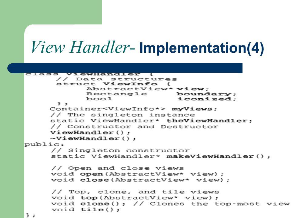 View Handler- Implementation(4)