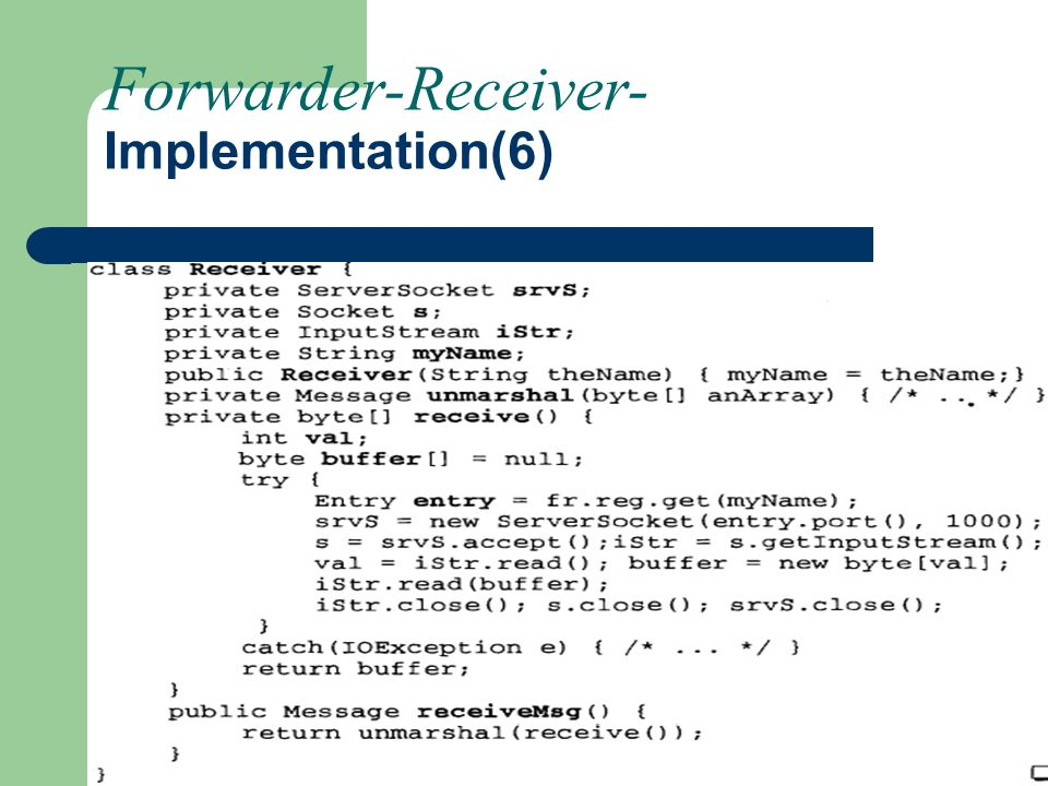 Forwarder-Receiver- Implementation(6)