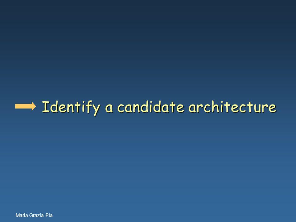 Maria Grazia Pia Identify a candidate architecture