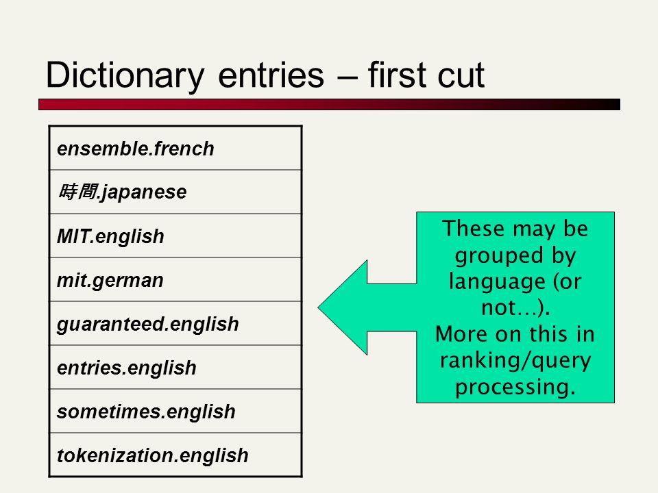 Dictionary entries – first cut ensemble.french 時間.