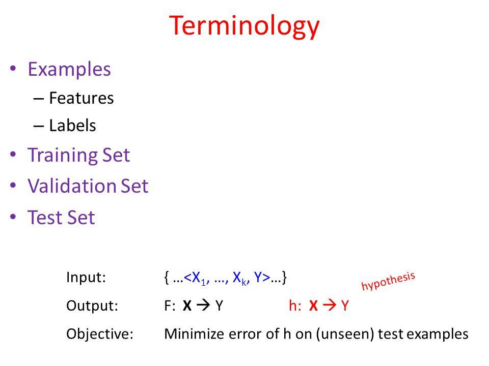 Finding Minimum Loss 28 h w (x) = w 1 x + w 0 Loss(h w ) = j=1 n  (y j – (w 1 x j +w 0 )) 2 Loss(h w ) = 0 w0w0  Argmin w Loss(h w ) Loss(h w ) = 0 w1w1 
