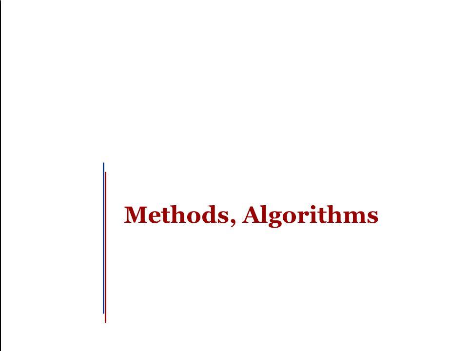 Methods, Algorithms