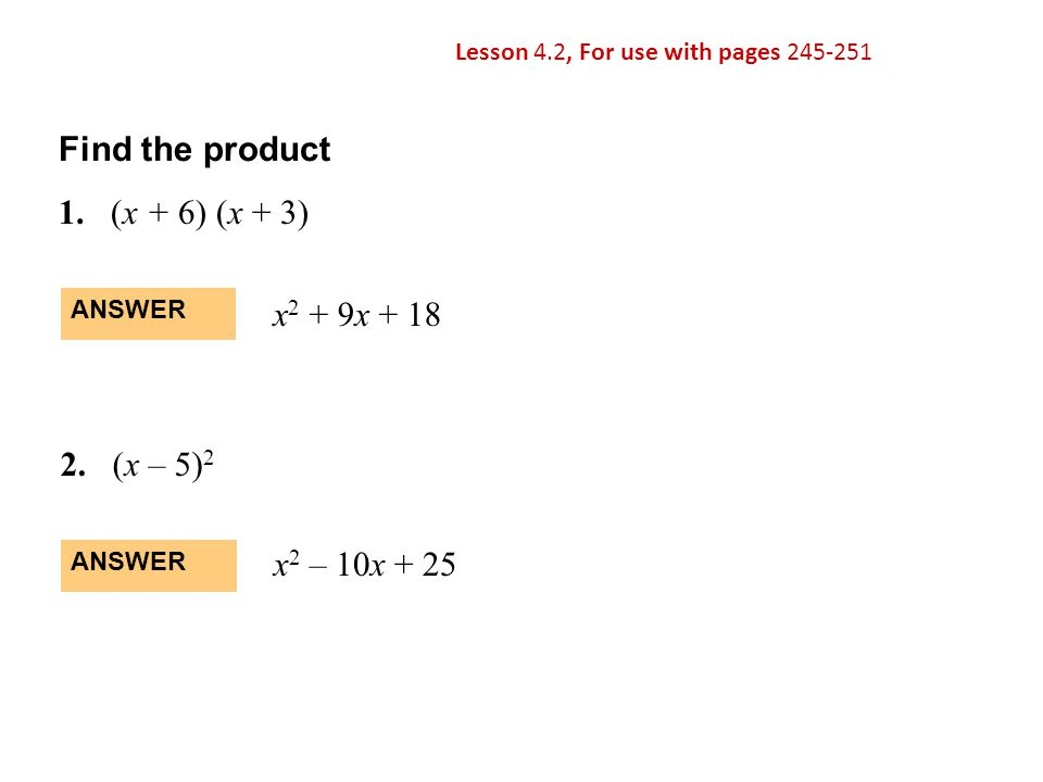 EXAMPLE 2 Use a quadratic model in vertex form SOLUTION The vertex of the parabola is (1400, 27).