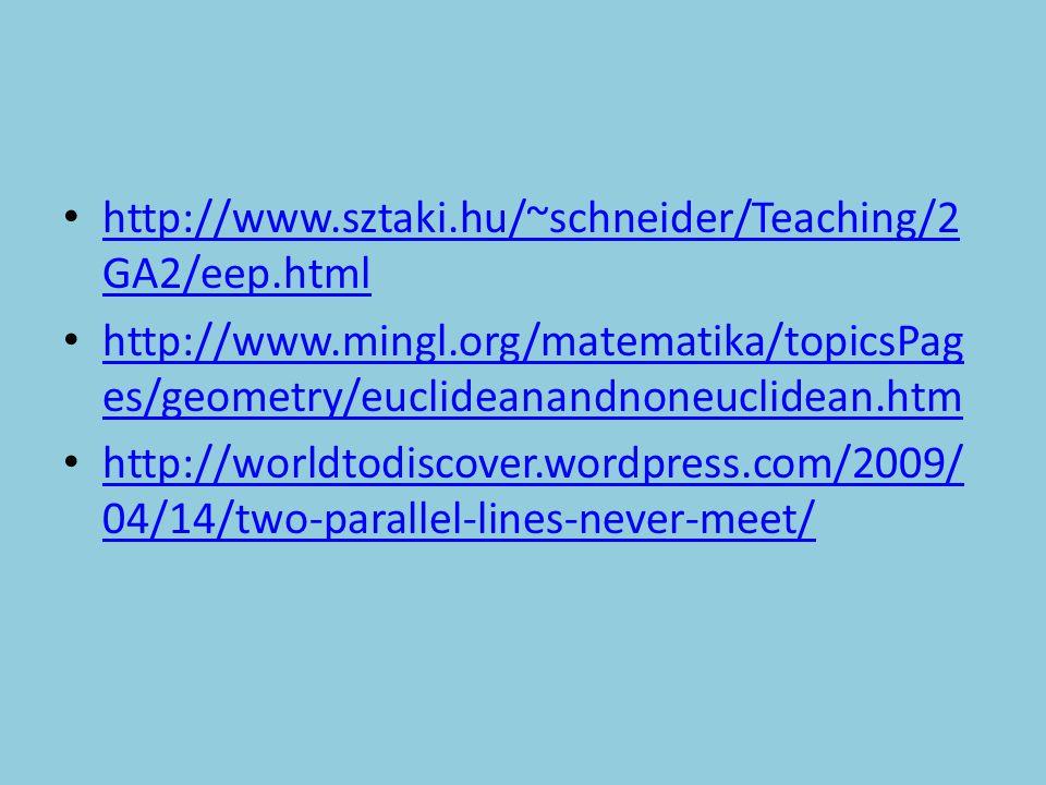 http://www.sztaki.hu/~schneider/Teaching/2 GA2/eep.html http://www.sztaki.hu/~schneider/Teaching/2 GA2/eep.html http://www.mingl.org/matematika/topics