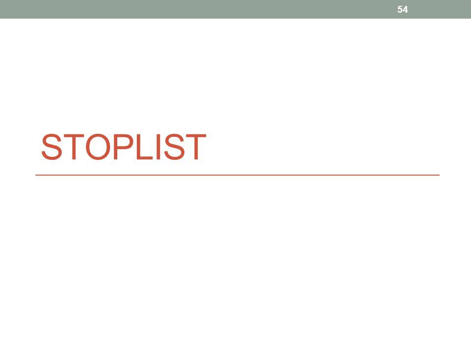 STOPLIST 54