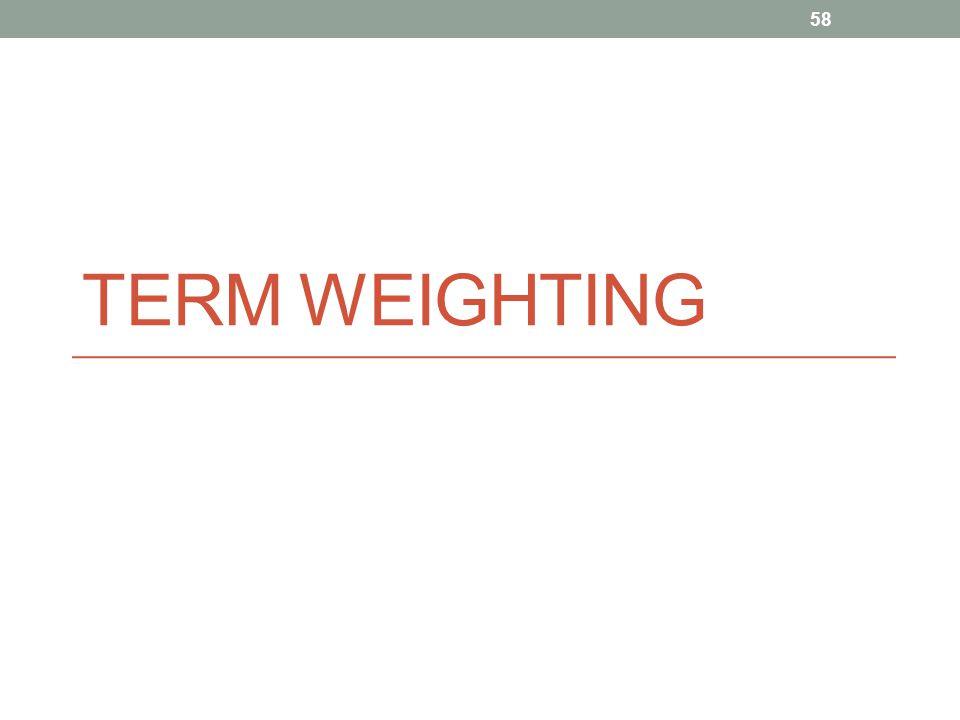 TERM WEIGHTING 58