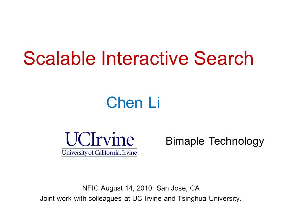 Outline  A real story  Challenges of interactive search  Recent research progress  Conclusions 12