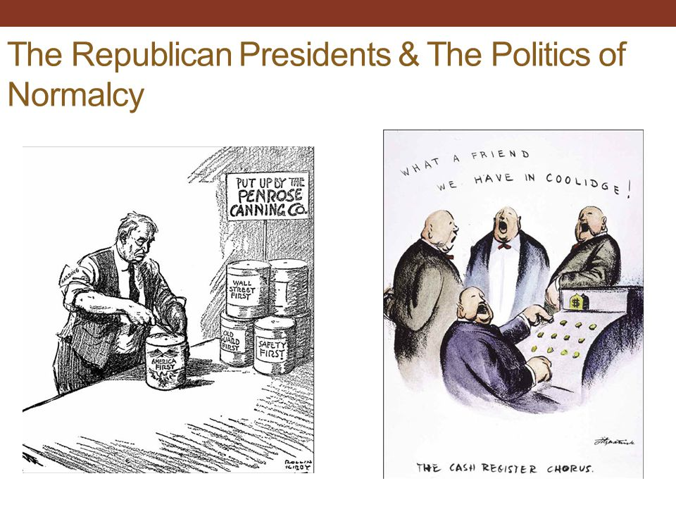 The Republican Presidents & The Politics of Normalcy