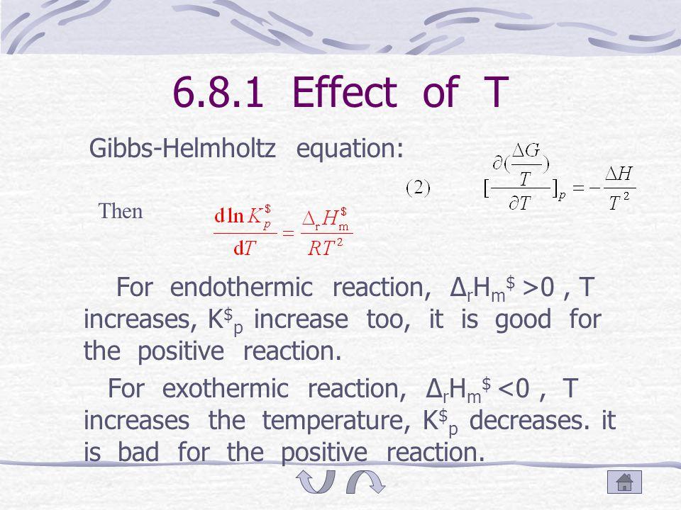 Answer Δ r G =-RTlnK =(92 743-144.58T/K)-- (1) 代以 T=573 K 得 Δ r G =9870 J · mol -1 将 Δ r G = Δ r H -T Δ r S 与 (1) 式比较, 得: Δ r H =92 743 J · mol -1, Δ r S =144.6 J · K -1 · mol -1 (2)K =exp(- Δ r G /RT) =0.1260 I 2 (g) + 环戊烯 (g) = 2HI(g) + 环戊二烯 (g) 平衡: (p  /2)-p (p  /2)-p 2p p K={[p 2 (HI)p]/[p(I 2 )p( 环 )]}(1/p  ) =0.1260 解此三次方程得 : p=0.1552p 
