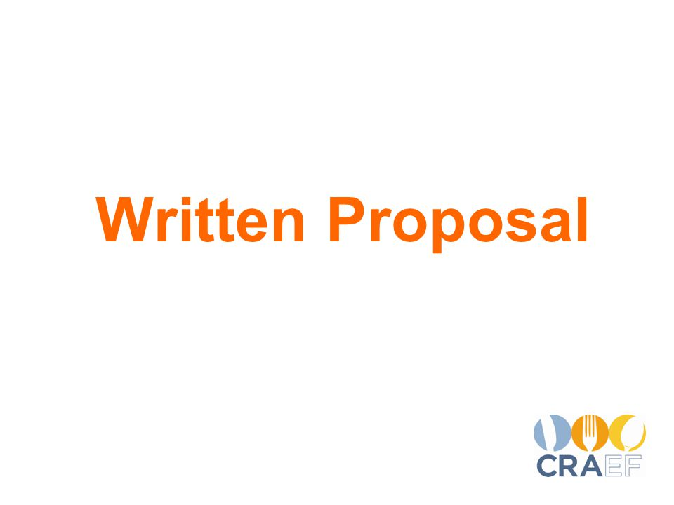 Written Proposal