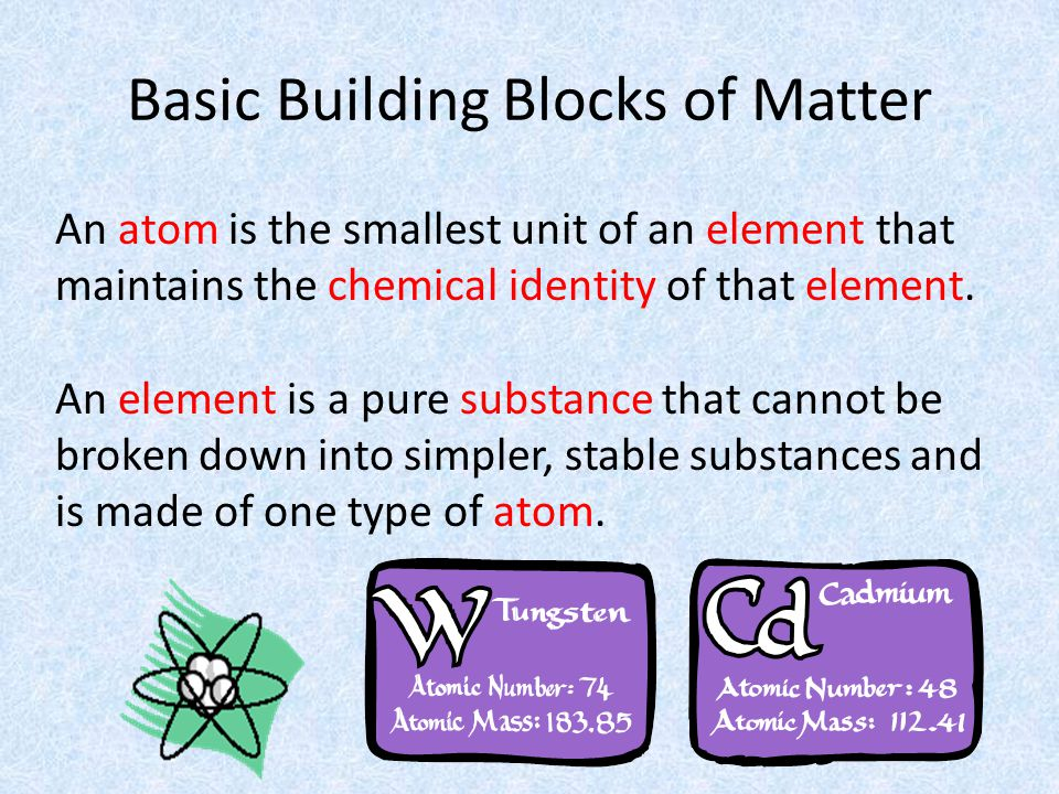 A compound is a substance that can be broken down into simple stable substances.