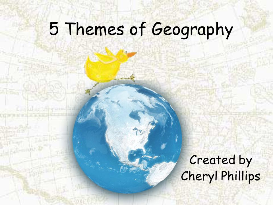 5 Themes of Geography Created by Cheryl Phillips