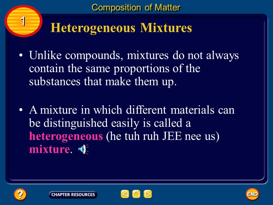 Suspensions Composition of Matter The table summarizes the properties of different types of mixtures.