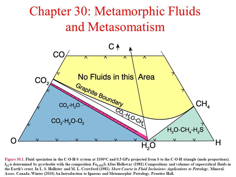 Chapter 30: Metamorphic Fluids and Metasomatism Figure 30.1.