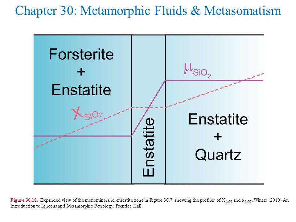 Chapter 30: Metamorphic Fluids & Metasomatism Figure 30.10.