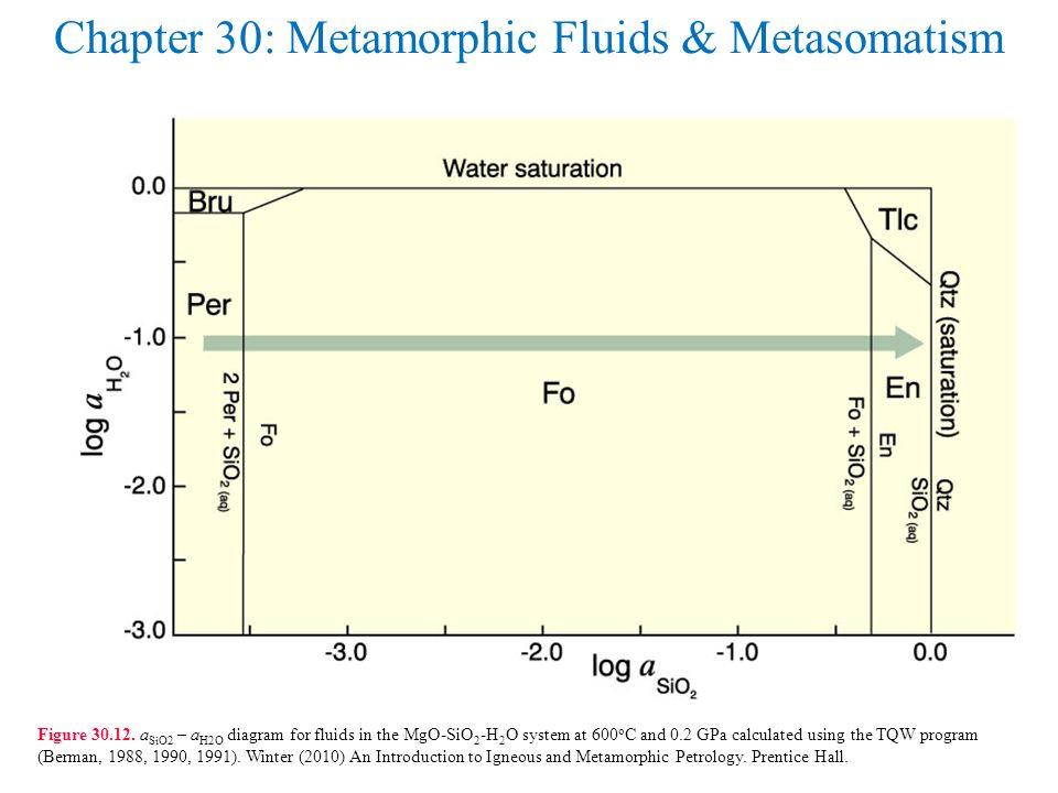 Chapter 30: Metamorphic Fluids & Metasomatism Figure 30.12.