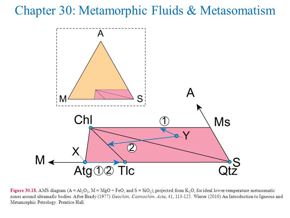Chapter 30: Metamorphic Fluids & Metasomatism Figure 30.18.