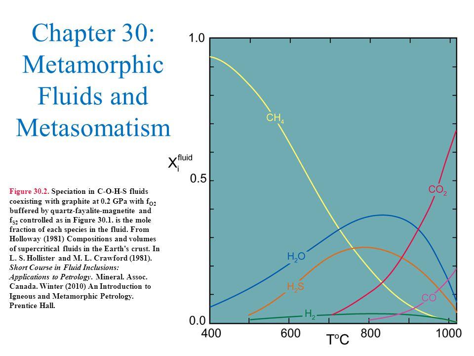 Chapter 30: Metamorphic Fluids and Metasomatism Figure 30.2.