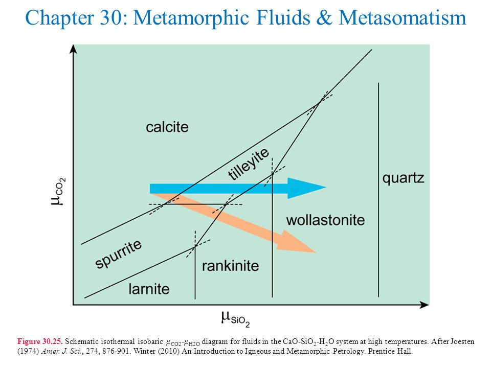Chapter 30: Metamorphic Fluids & Metasomatism Figure 30.25.