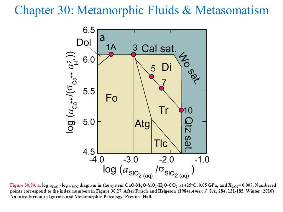 Chapter 30: Metamorphic Fluids & Metasomatism Figure 30.30.